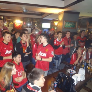 Manchester united fans! The Old English Pub
